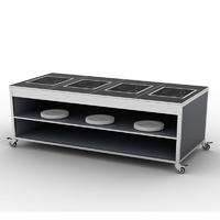 Banquet Mobile Buffet Induction Counter For Hotel